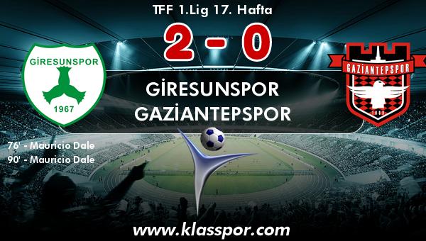 Giresunspor 2 - Gaziantepspor 0