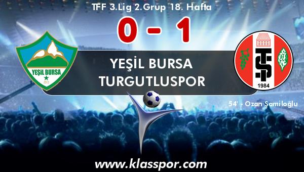 Yeşil Bursa 0 - Turgutluspor 1
