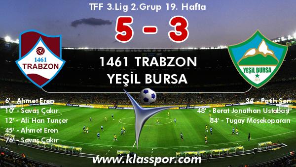 1461 Trabzon 5 - Yeşil Bursa 3