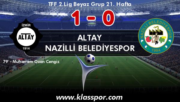 Altay 1 - Nazilli Belediyespor 0