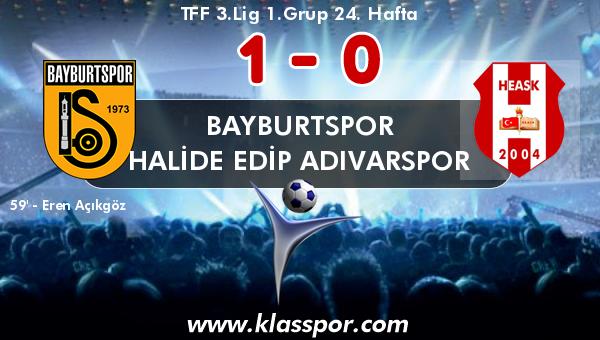 Bayburtspor 1 - Halide Edip Adıvarspor 0