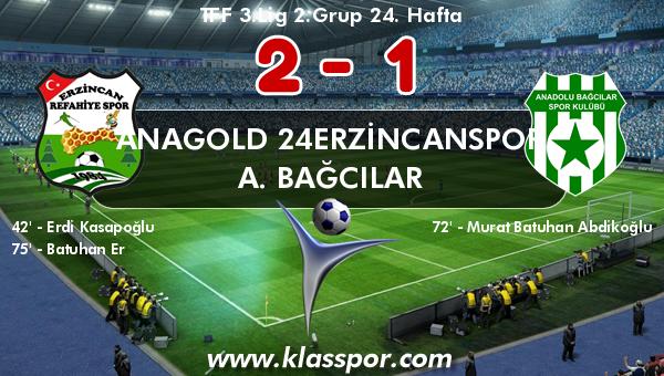 Anagold 24Erzincanspor 2 - A. Bağcılar 1