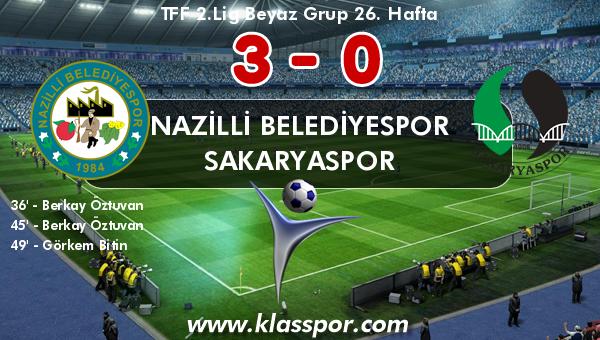 Nazilli Belediyespor 3 - Sakaryaspor 0