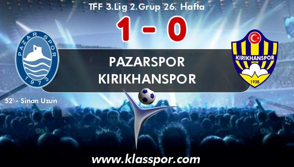 Pazarspor 1 - Kırıkhanspor 0