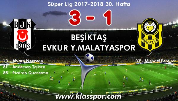 Beşiktaş 3 - Evkur Y.Malatyaspor 1