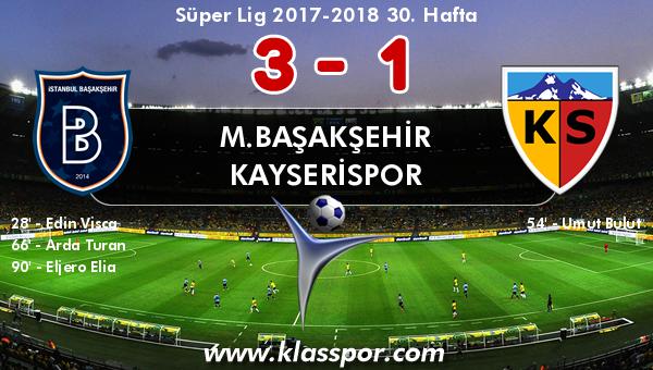 M.Başakşehir 3 - Kayserispor 1