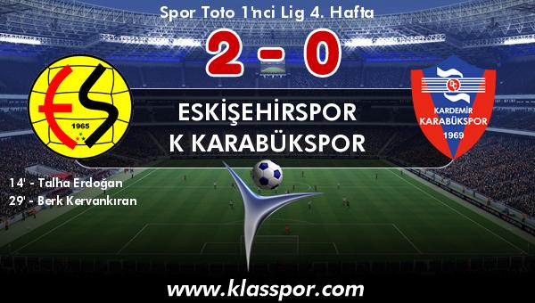 Eskişehirspor 2 - K Karabükspor 0