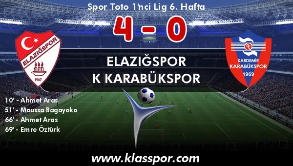 Elazığspor 4 - K Karabükspor 0