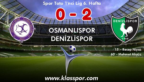 Osmanlıspor 0 - Denizlispor 2