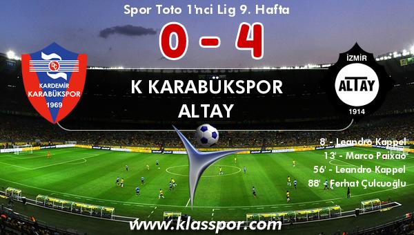 K Karabükspor 0 - Altay 4