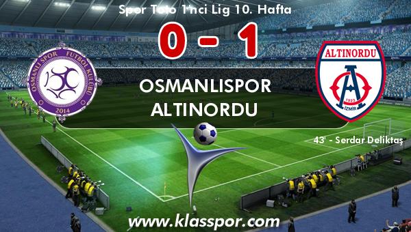 Osmanlıspor 0 - Altınordu 1