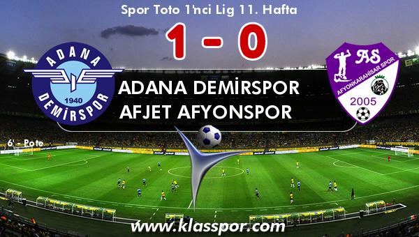 Adana Demirspor 1 - Afjet Afyonspor  0