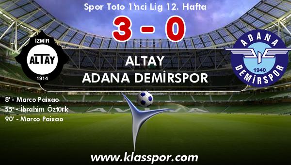 Altay 3 - Adana Demirspor 0