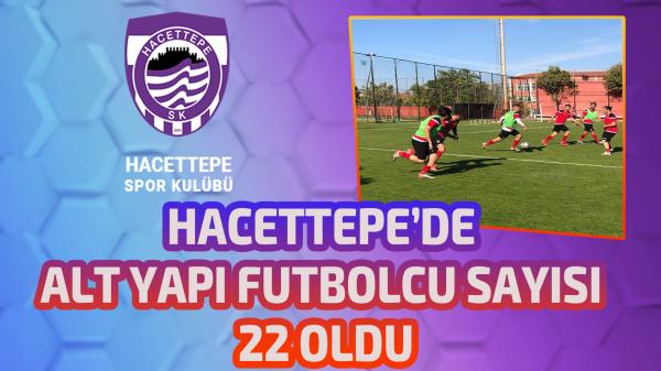 Hacettepe'de alt yapı futbolcu sayısı 22 oldu