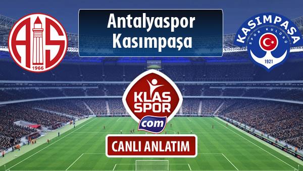 Antalyaspor - Kasımpaşa maç kadroları belli oldu...