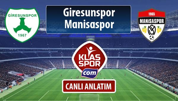 İşte Giresunspor - Manisaspor maçında ilk 11'ler