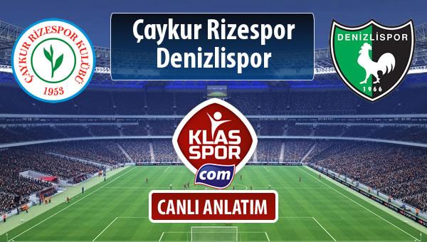 Çaykur Rizespor - Denizlispor maç kadroları belli oldu...