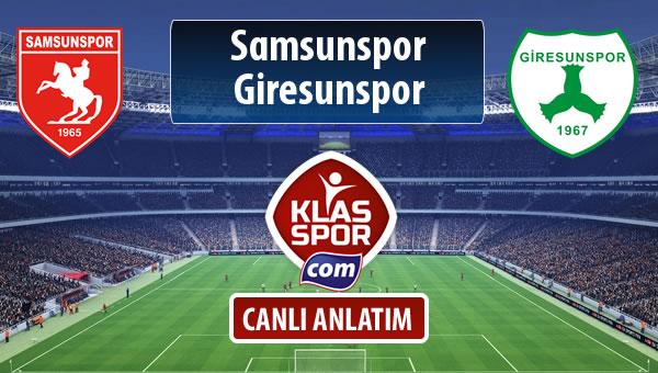 Samsunspor - Giresunspor sahaya hangi kadro ile çıkıyor?