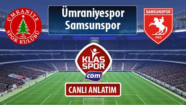 Ümraniyespor - Samsunspor maç kadroları belli oldu...