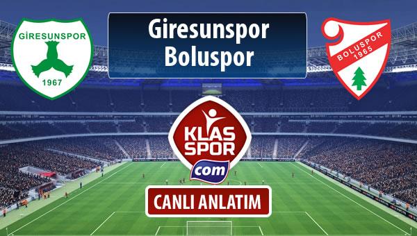 Giresunspor - Boluspor maç kadroları belli oldu...