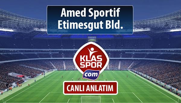 İşte Amed Sportif - Etimesgut Bld. maçında ilk 11'ler
