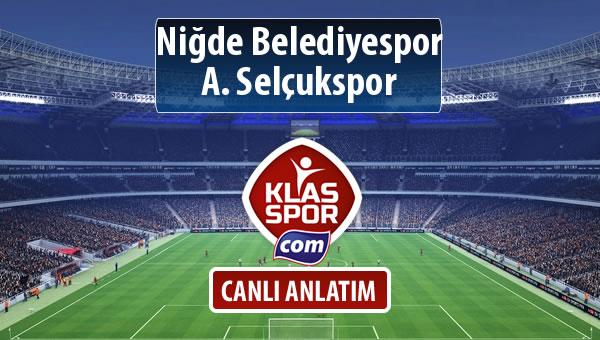 Niğde Belediyespor - A. Selçukspor maç kadroları belli oldu...