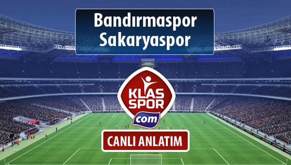 Bandırmaspor - Sakaryaspor sahaya hangi kadro ile çıkıyor?
