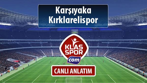 Karşıyaka - Kırklarelispor maç kadroları belli oldu...