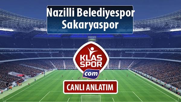 Nazilli Belediyespor - Sakaryaspor maç kadroları belli oldu...
