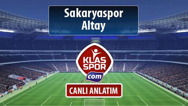 Sakaryaspor - Altay sahaya hangi kadro ile çıkıyor?