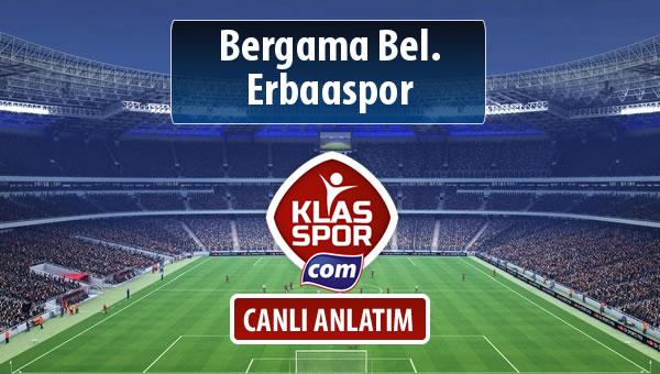 İşte Bergama Bel. - Erbaaspor maçında ilk 11'ler