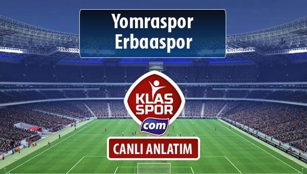 Yomraspor - Erbaaspor maç kadroları belli oldu...