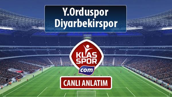 Y.Orduspor - Diyarbekirspor sahaya hangi kadro ile çıkıyor?