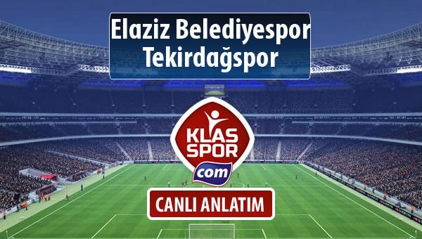 Elaziz Belediyespor - Tekirdağspor maç kadroları belli oldu...