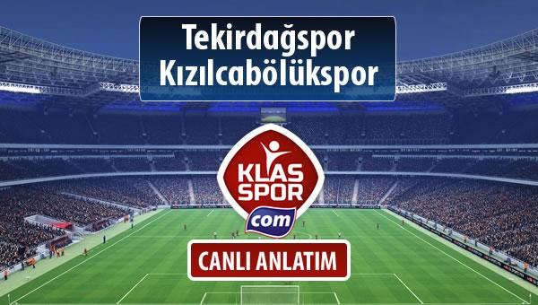 İşte Tekirdağspor - Kızılcabölükspor maçında ilk 11'ler