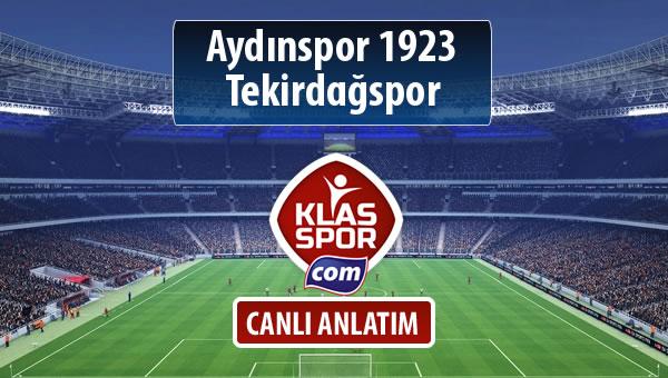 Aydınspor 1923 - Tekirdağspor maç kadroları belli oldu...