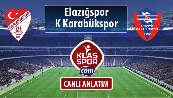 Elazığspor - K Karabükspor sahaya hangi kadro ile çıkıyor?