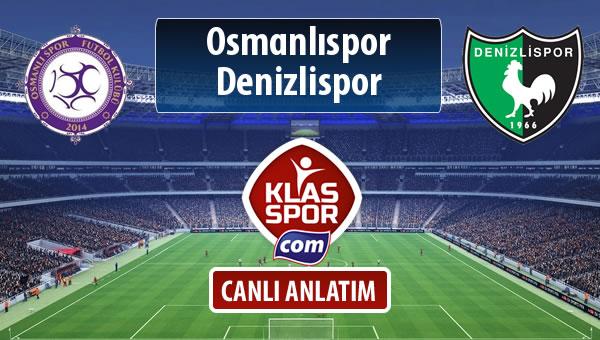 Osmanlıspor - Denizlispor sahaya hangi kadro ile çıkıyor?