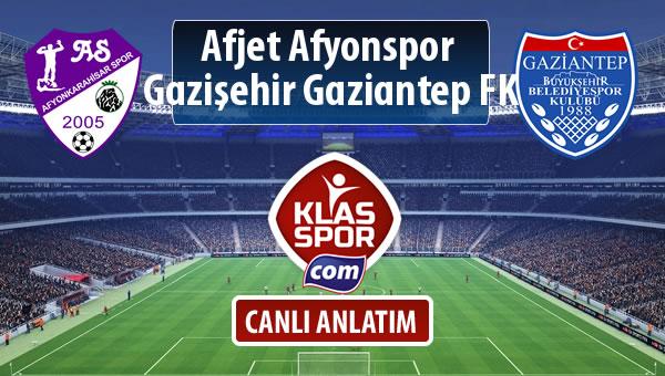 Afjet Afyonspor  - Gazişehir Gaziantep FK sahaya hangi kadro ile çıkıyor?