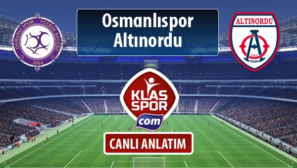 İşte Osmanlıspor - Altınordu maçında ilk 11'ler