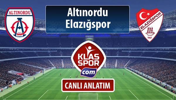 Altınordu - Elazığspor maç kadroları belli oldu...