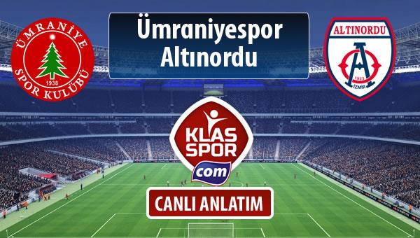 Ümraniyespor - Altınordu maç kadroları belli oldu...