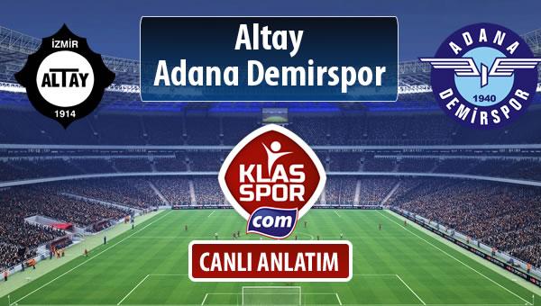 Altay - Adana Demirspor maç kadroları belli oldu...