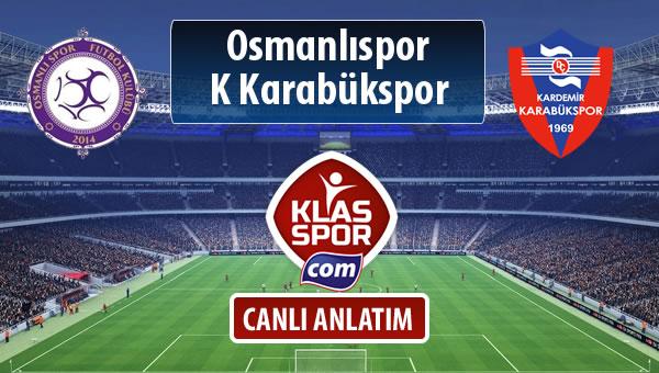 İşte Osmanlıspor - K Karabükspor maçında ilk 11'ler