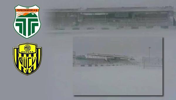 Tepecikspor - Ankaragücü maçı ertelendi...