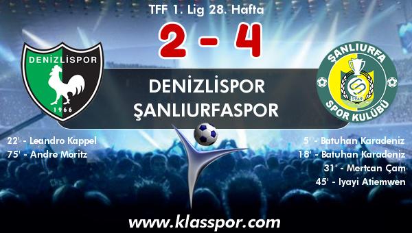 Denizlispor 2 - Şanlıurfaspor 4