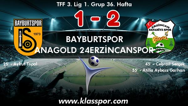 Bayburtspor 1 - Anagold 24Erzincanspor 2