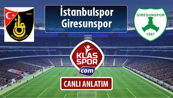 İstanbulspor - Giresunspor maç kadroları belli oldu...