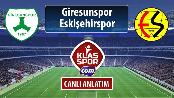 Giresunspor - Eskişehirspor maç kadroları belli oldu...