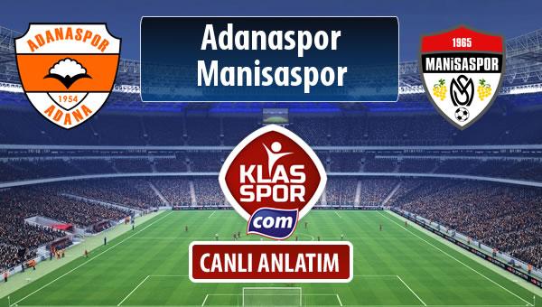 Adanaspor - Manisaspor maç kadroları belli oldu...